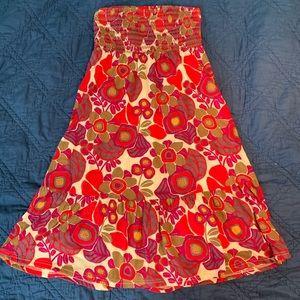 Fossil strapless boho midi dress